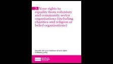 Your rights to equality from voluntary and community sector organisations (including charities and religion or belief organisations)