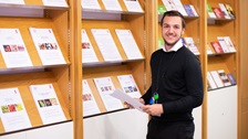 An apprentice in our Business and IP Centre