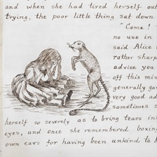 Page from Alice in Wonderland