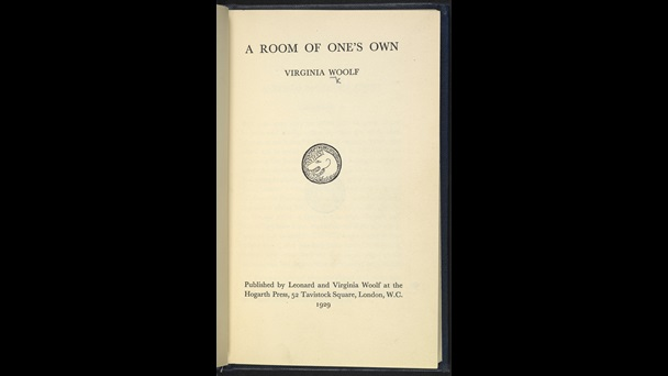 Title page from A Room of One's Own by Virginia Woolf