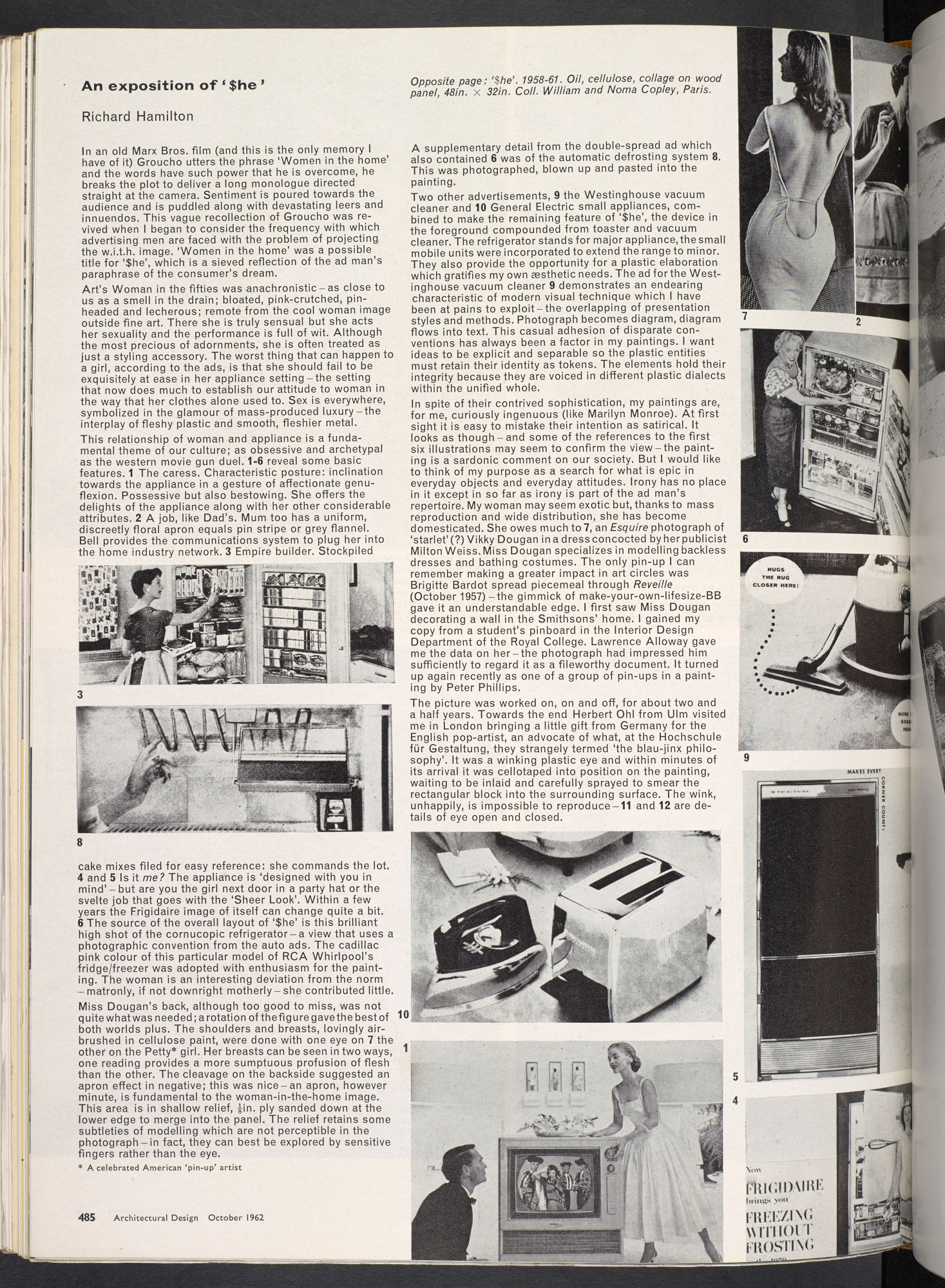 "'An exposition of ""$he""' by Richard Hamilton, from Architectural Design"