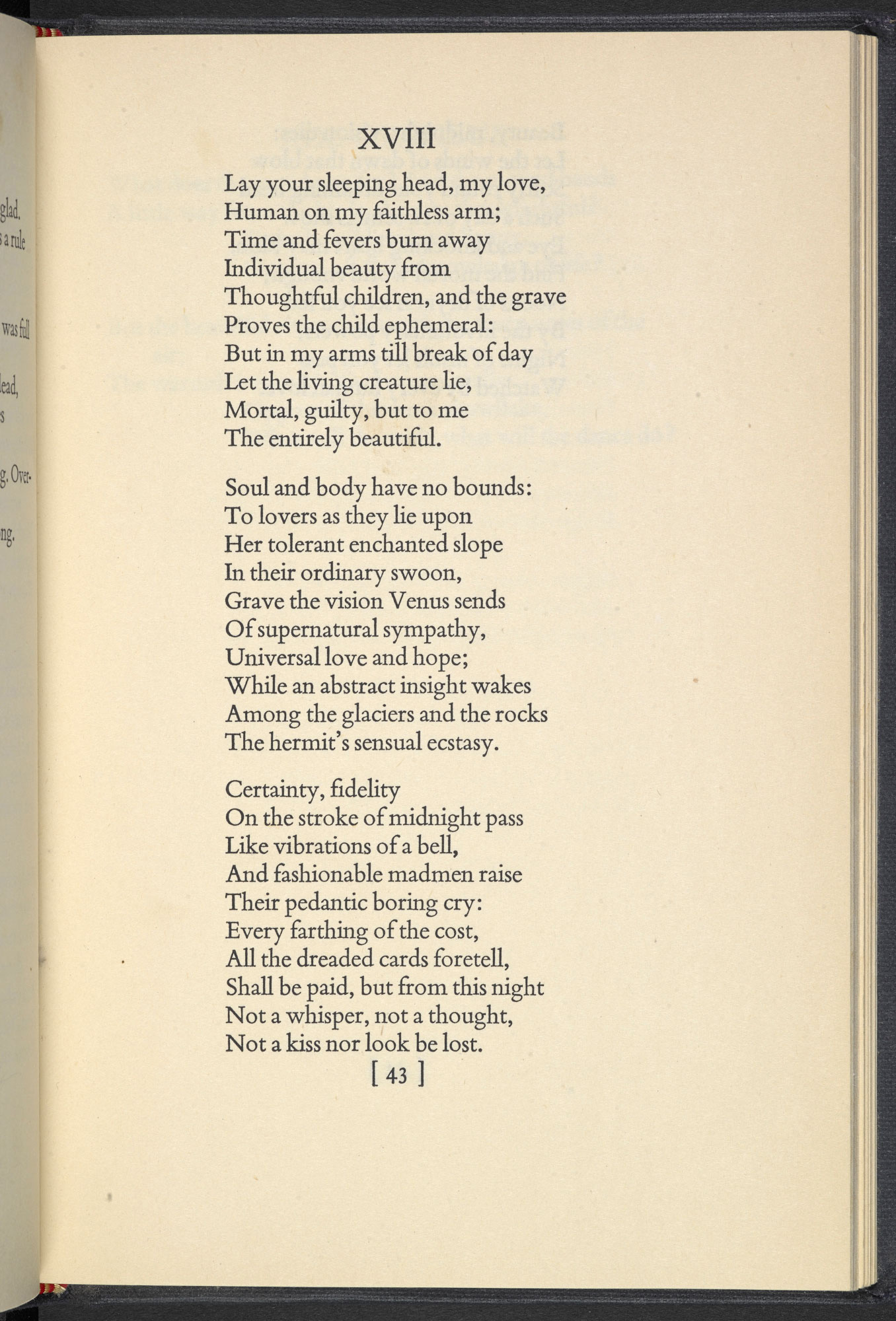 Another Time by W H Auden