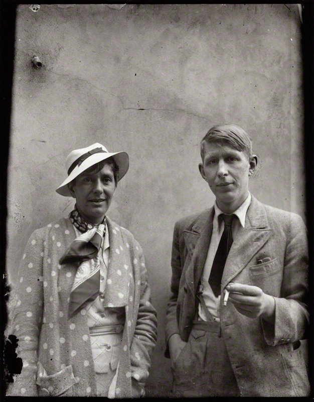 W H Auden and Erika Mann pictured in the year of their marriage by Alec Bangham
