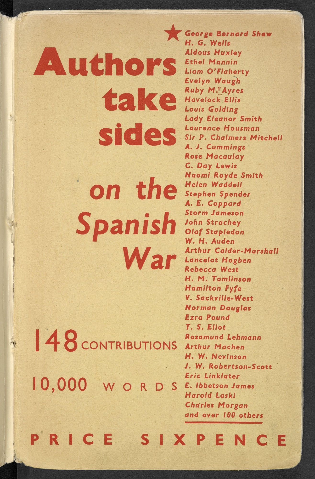 Authors Take Sides on the Spanish War