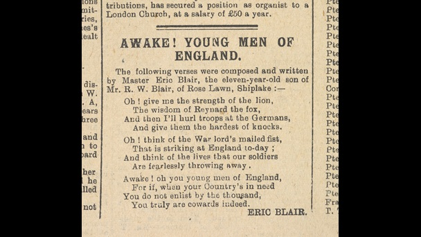 'Awake! Young Men of England' by George Orwell
