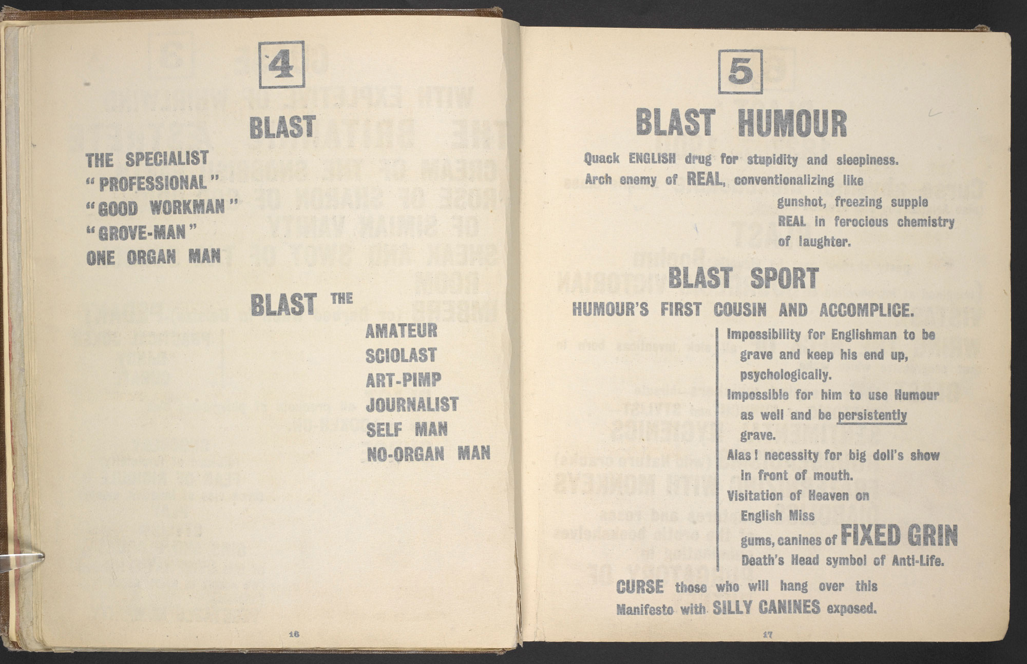 BLAST no. 1, the Vorticist magazine