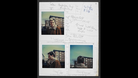 Continuity and costume notes for My Beautiful Laundrette, with Polaroids (part one)