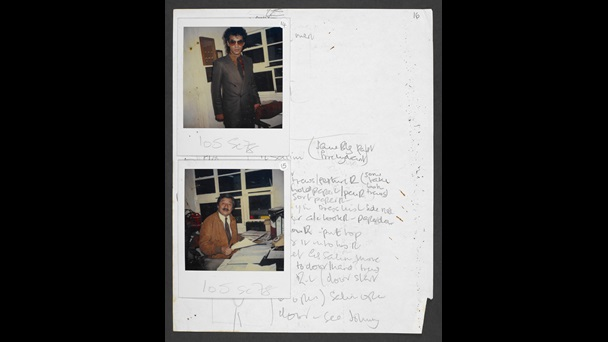 Continuity and costume notes for My Beautiful Laundrette, with Polaroids (part three)