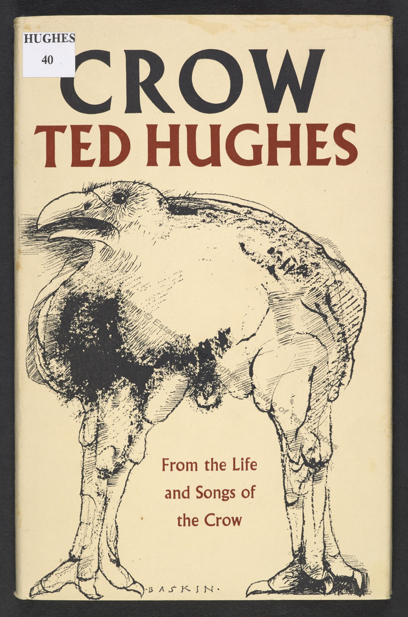 Crow by Ted Hughes, with artwork by Leonard Baskin