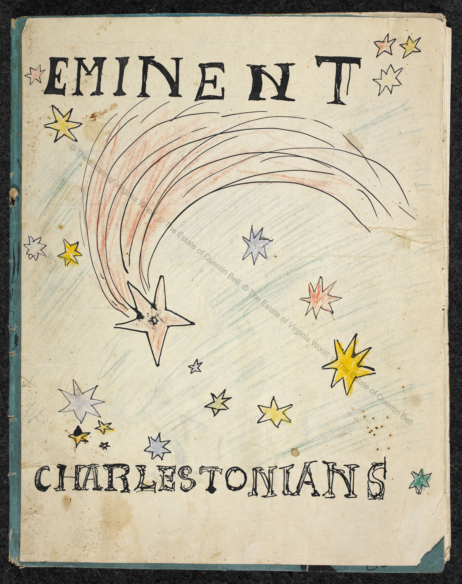 'Eminent Charlestonians', with illustrations by Quentin Bell and text by Virginia Woolf
