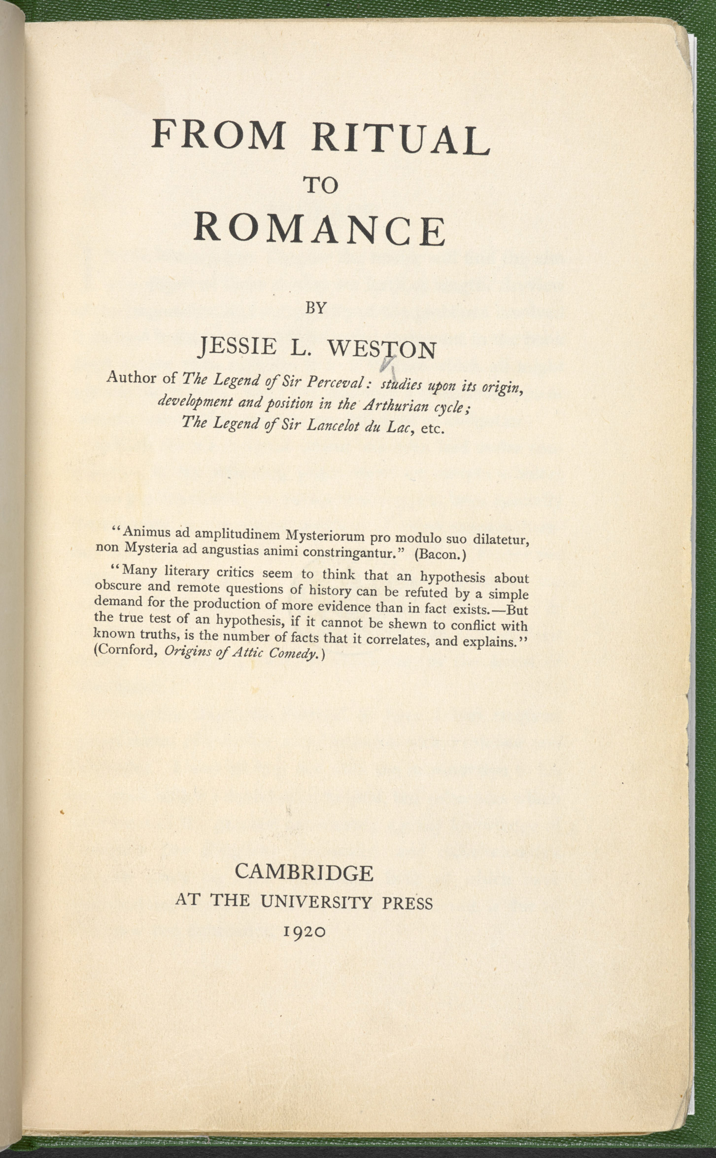 From Ritual to Romance, a source referenced in The Waste Land