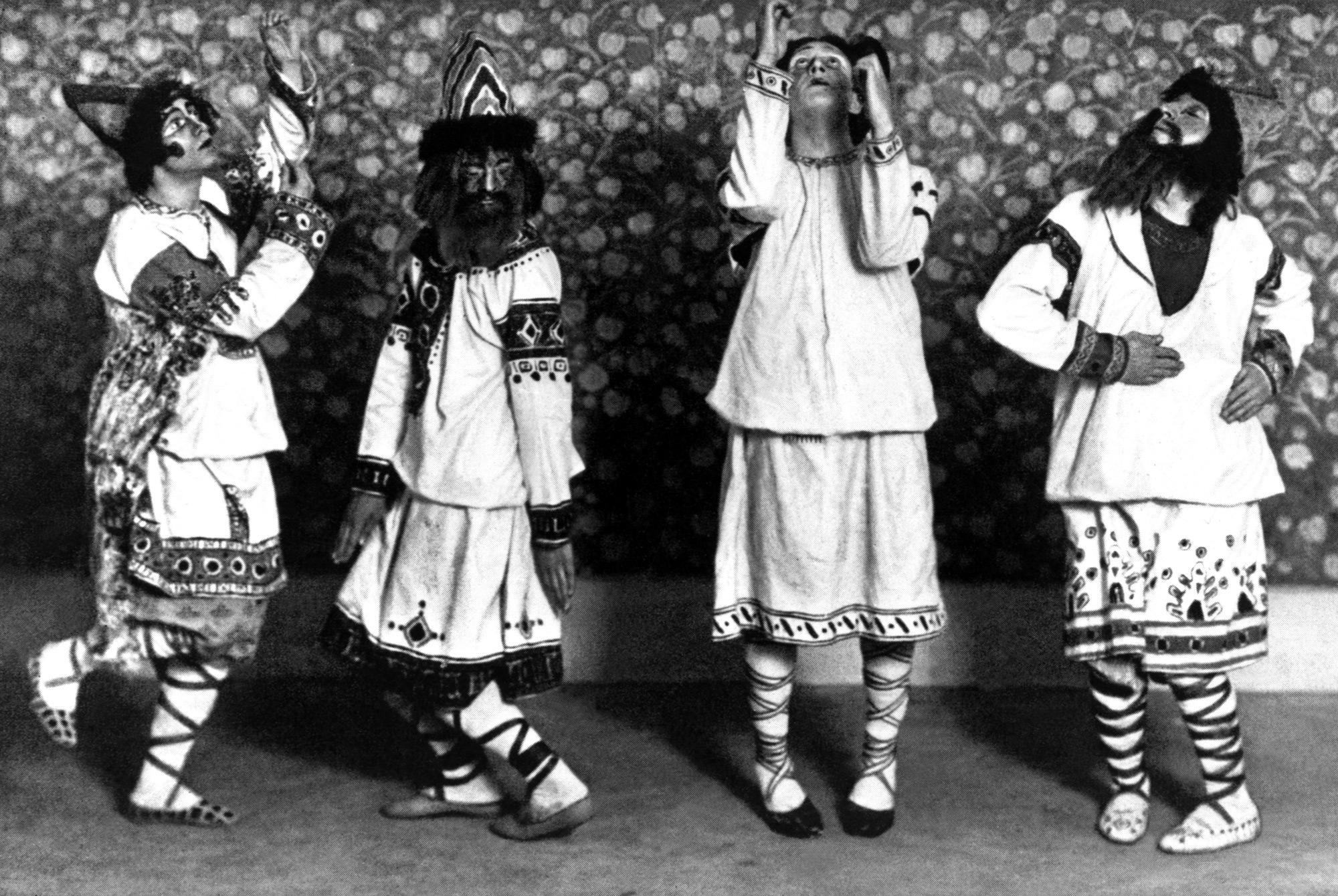 Photograph of a scene from Stravinsky's ballet The Rite of Spring, 1913