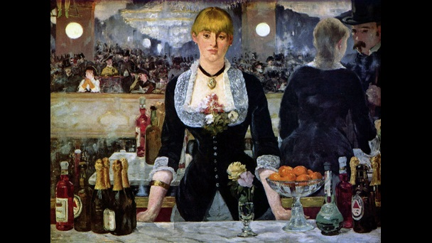 Un bar aux Folies Bergère by Manet
