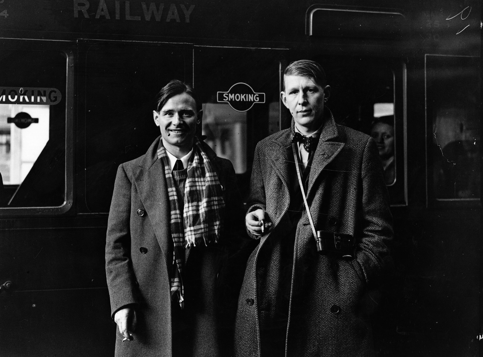 Auden and Isherwood leaving for China in 1938