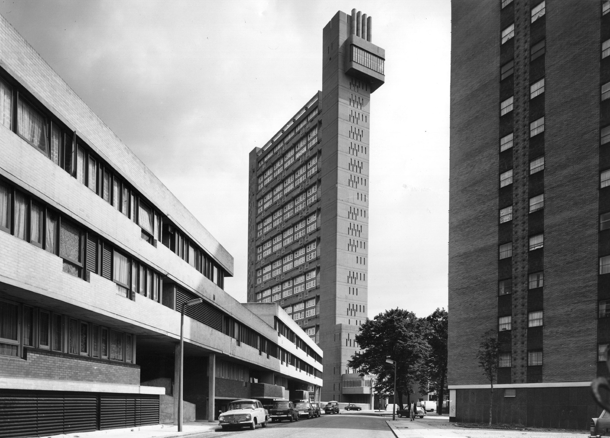 Photograph of the Trellick Tower, designed by Ernö Goldfinger
