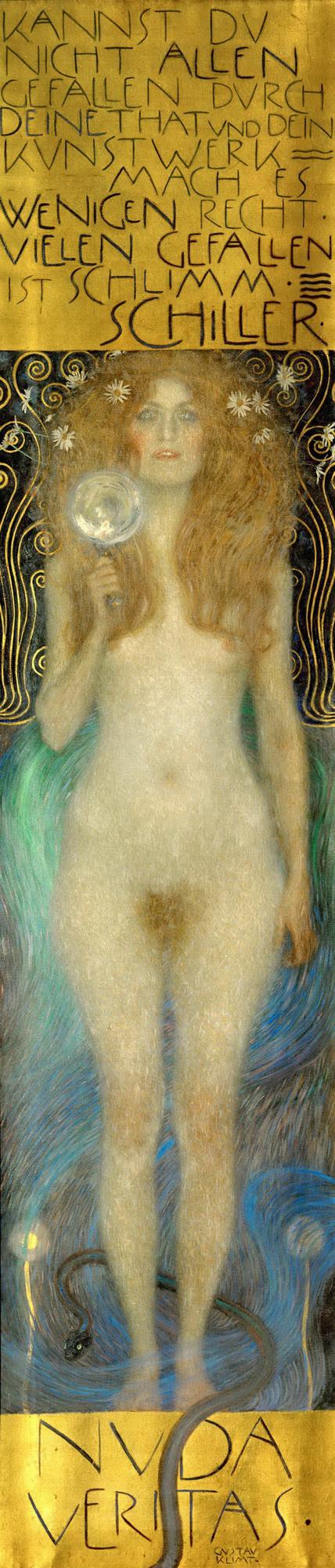 Nuda Veritas, by Gustav Klimt