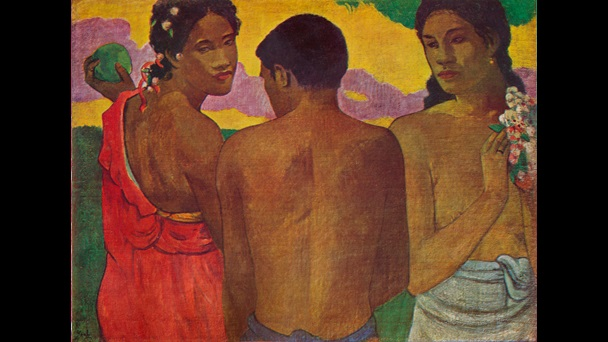 Three Tahitians by Gauguin