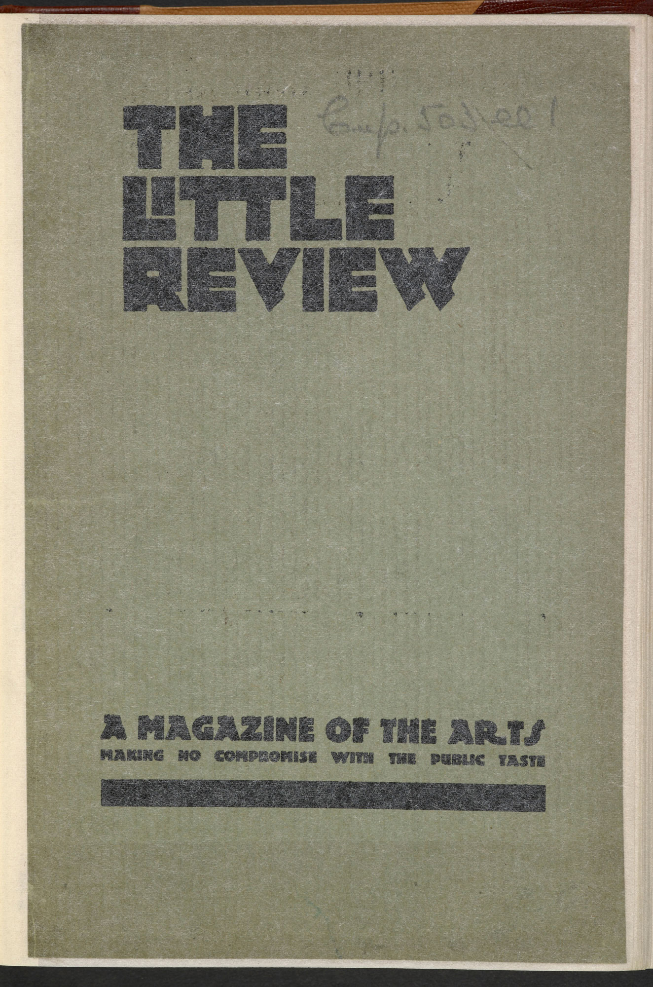 Instalment of Ulysses (episode XIII, Nausicaa) in The Little Review, April 1920