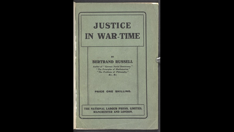 Justice in War-Time by Bertrand Russell