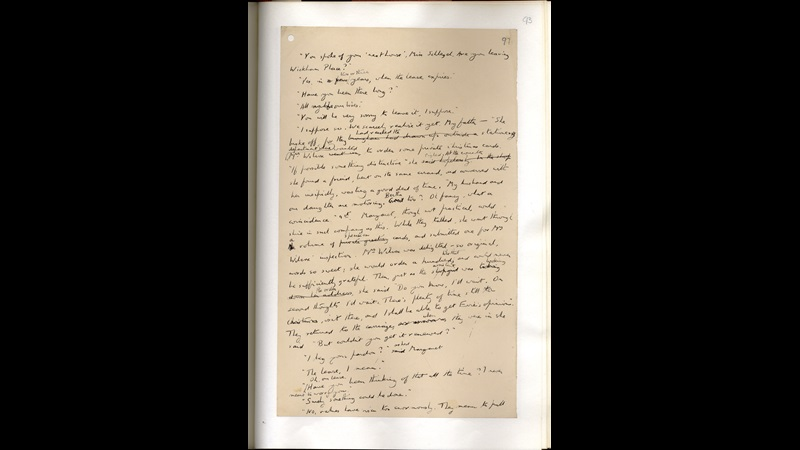 E M Forster's draft of Howards End