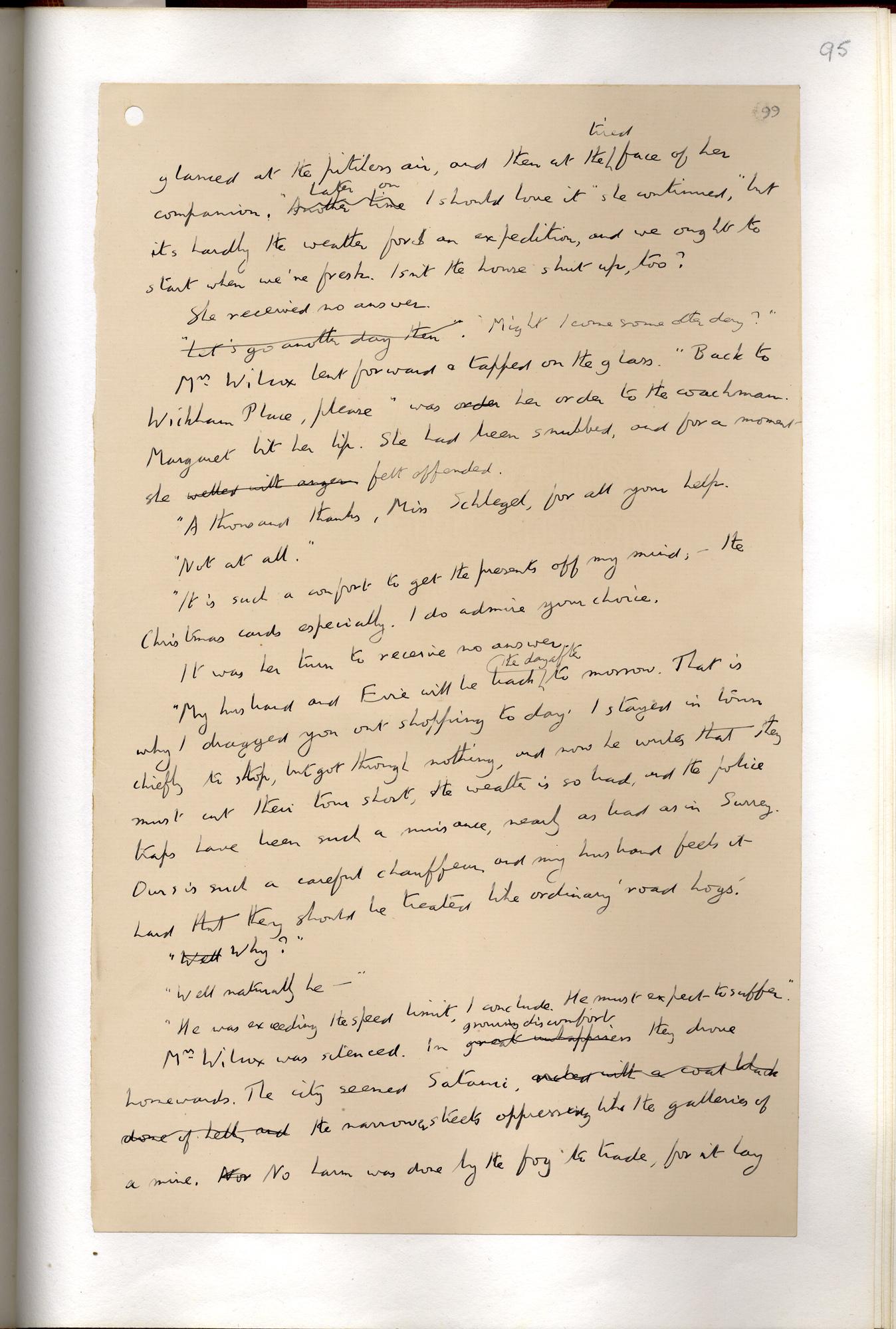 E M Forster's draft of Howards End