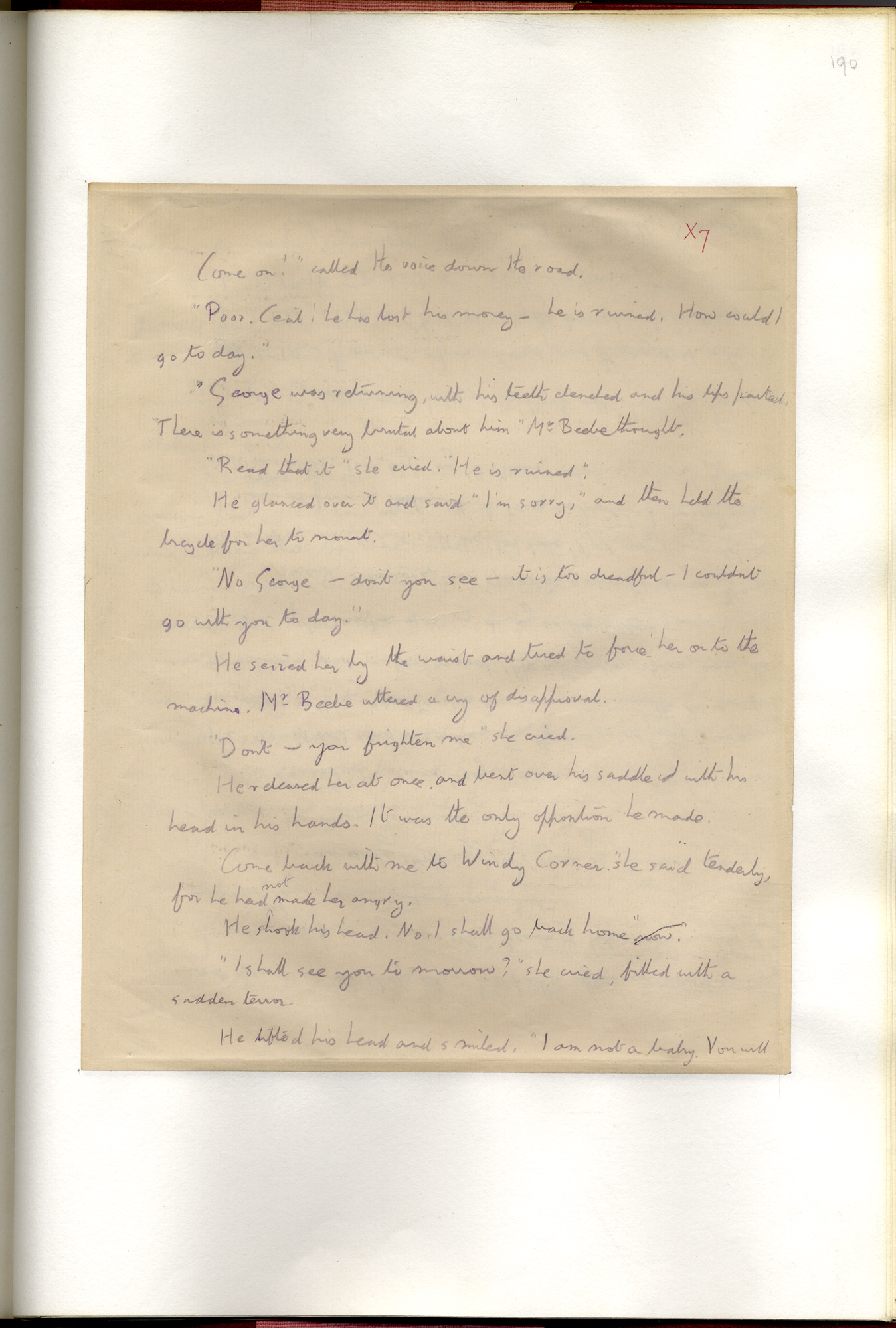 E M Forster's early draft of A Room with a View