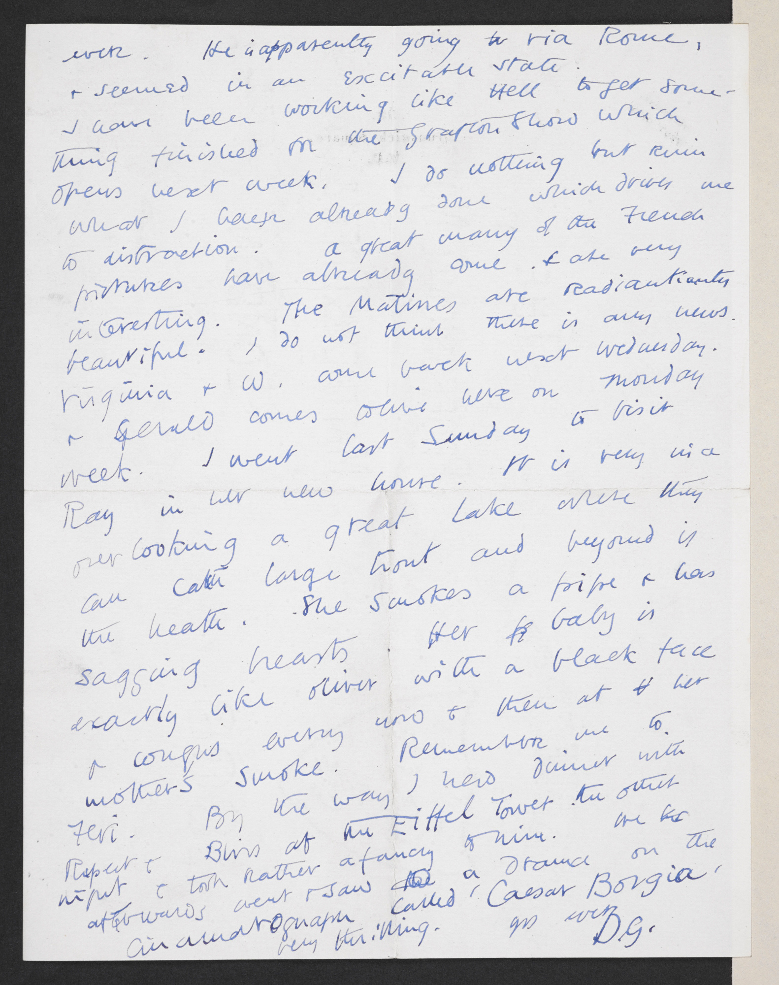 Letter from Duncan Grant to J M Keynes about the Second Post Impressionist exhibition, 1912