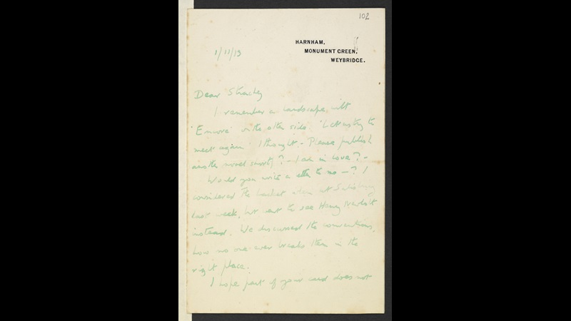 Letters from E M Forster to Lytton Strachey, 1908–24