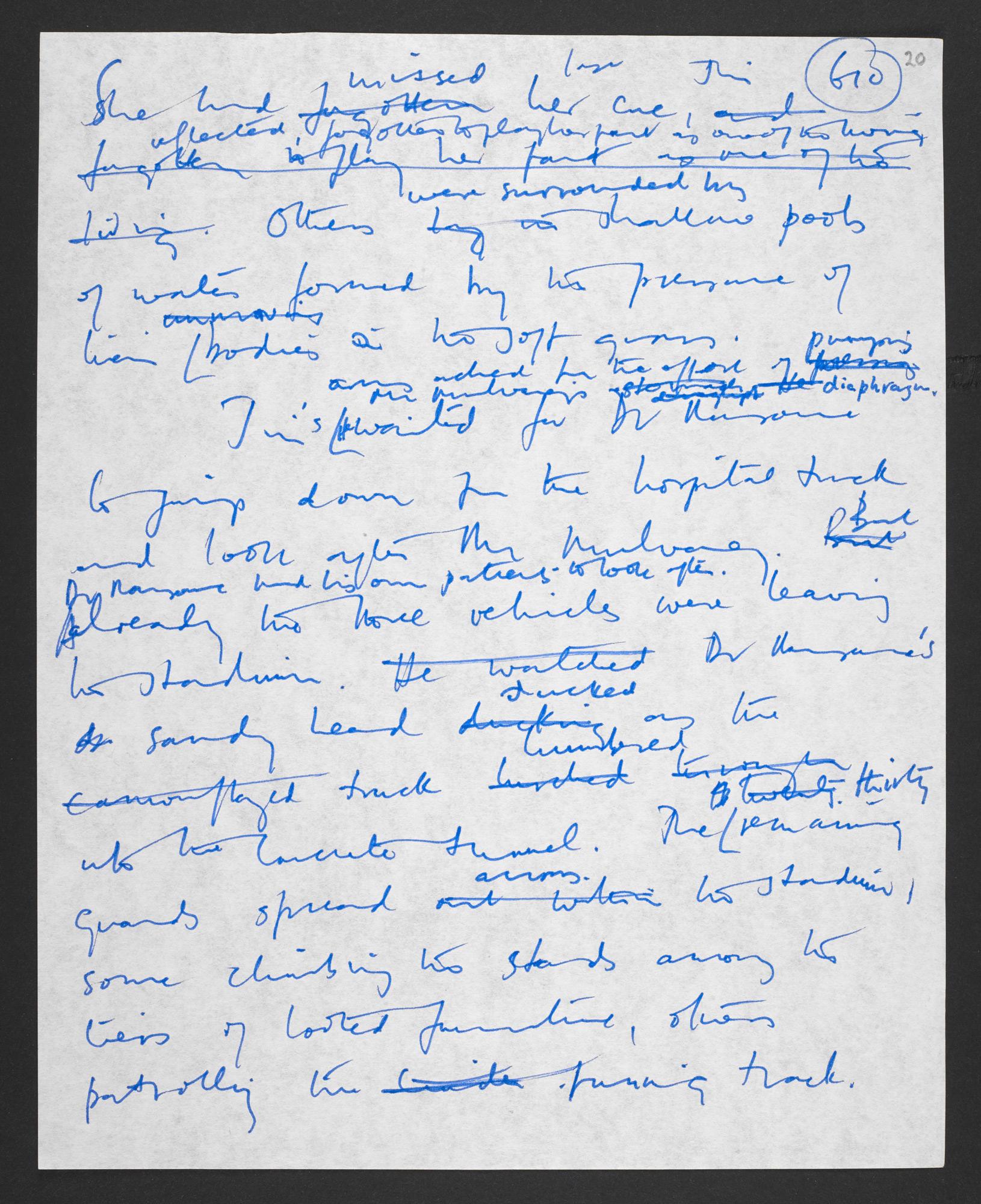 Manuscript draft of Empire of the Sun by J G Ballard
