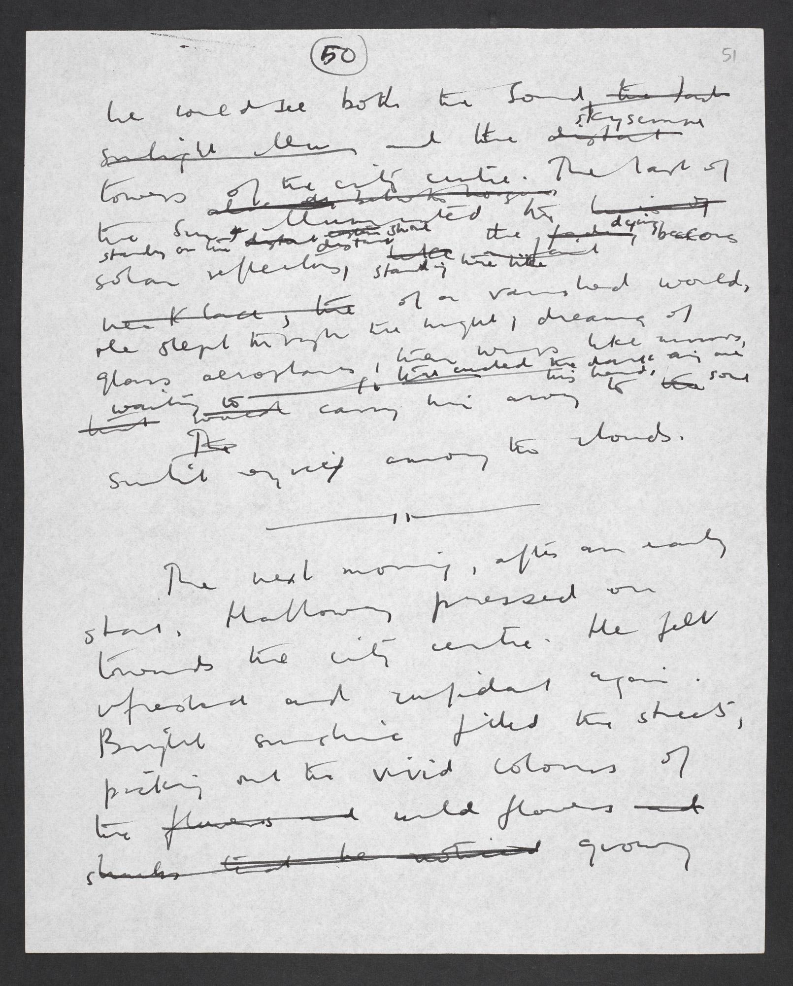 Manuscript draft of 'The Ultimate City' by J G Ballard