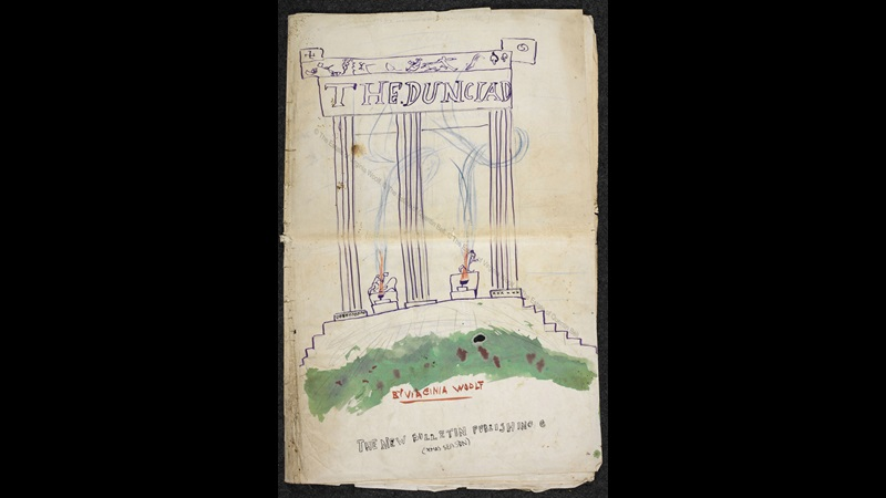 Manuscript of 'The Dunciad' by Quentin Bell and Virginia Woolf