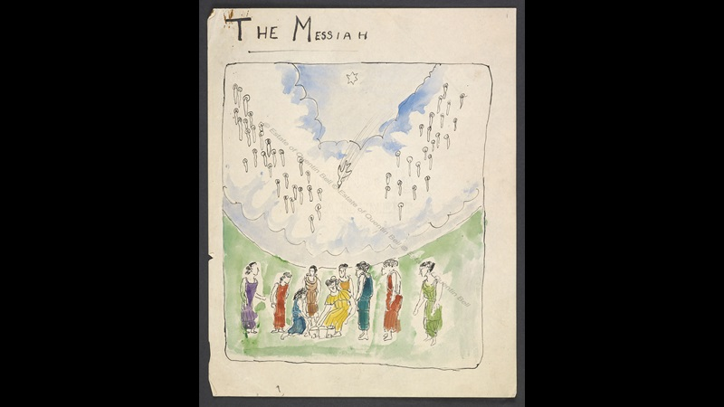 Manuscript of 'The Messiah' by Quentin Bell and Virginia Woolf