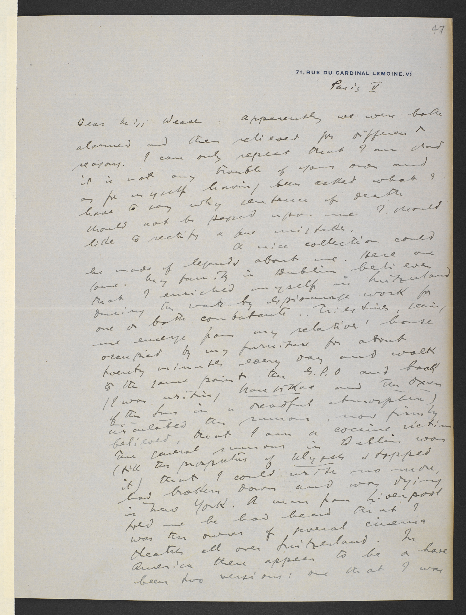 Material relating to James Joyce and Ulysses