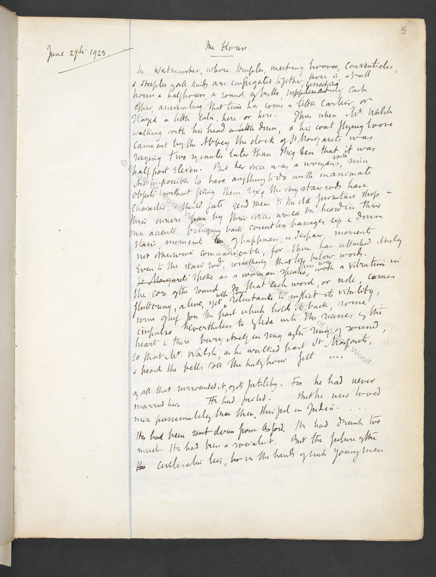 Notebook drafts of Virginia Woolf's Mrs Dalloway (Volume I)