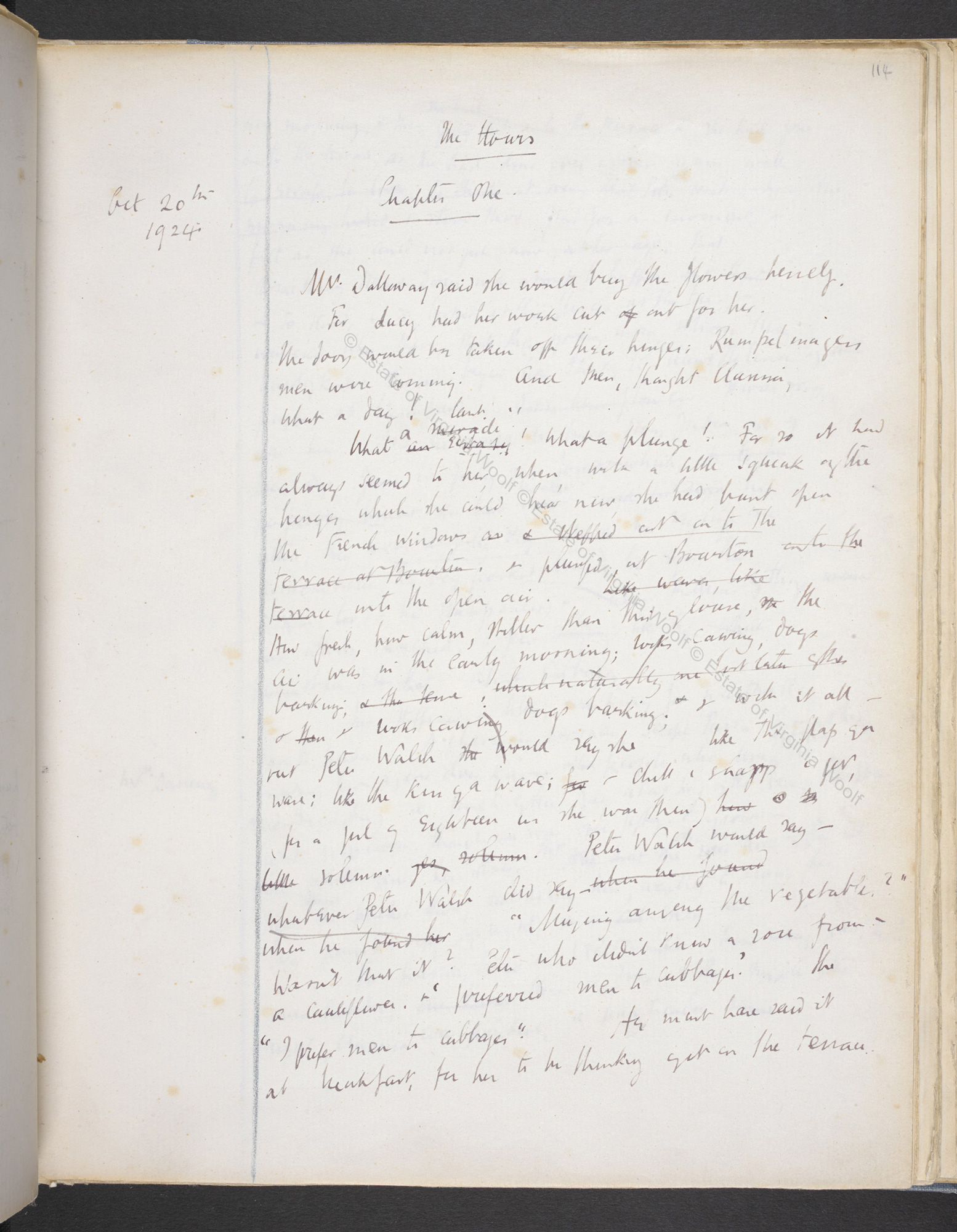 Notebook drafts of Virginia Woolf's Mrs Dalloway (Volume II)