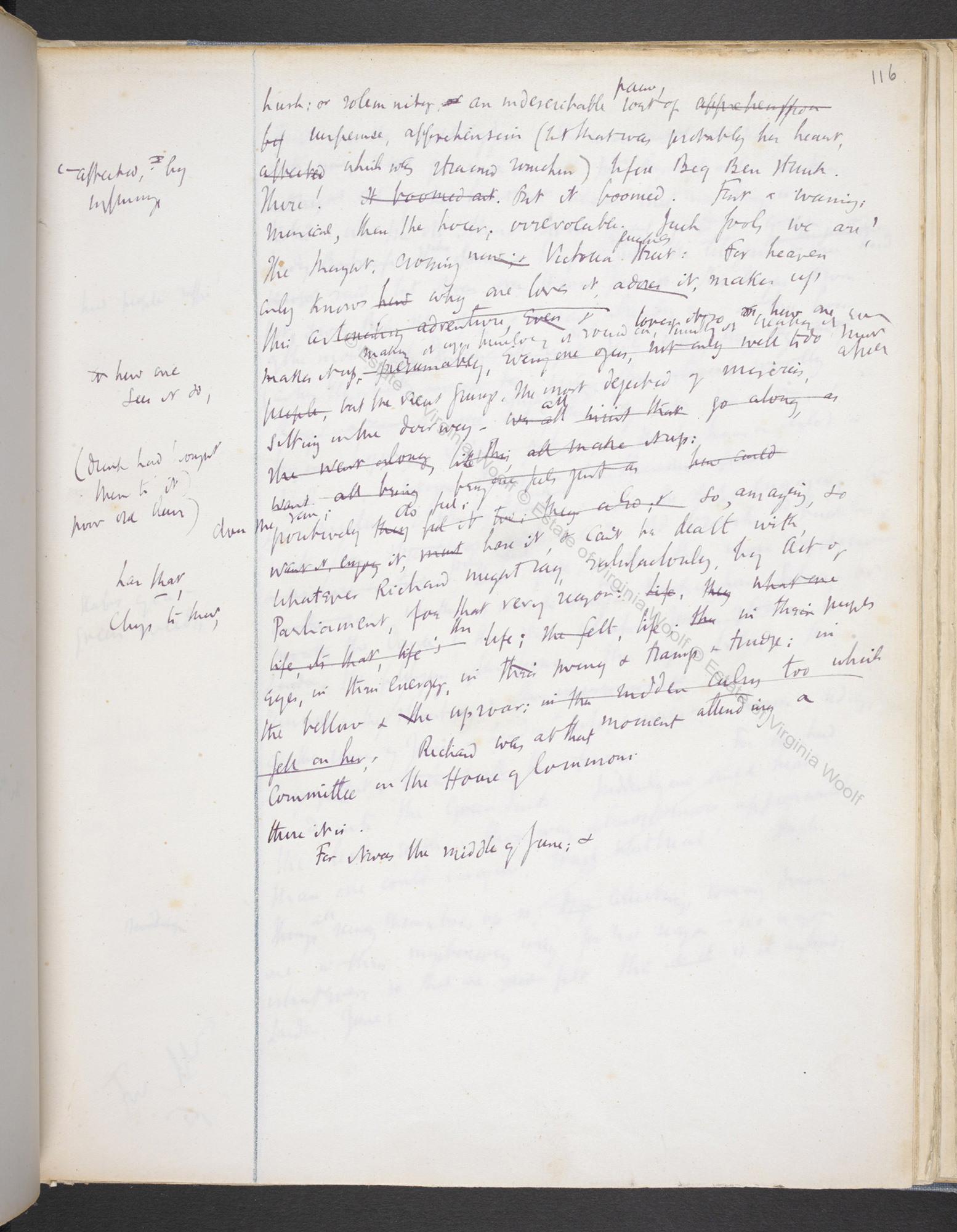 Notebook drafts of Virginia Woolf's Mrs Dalloway (Volume II)