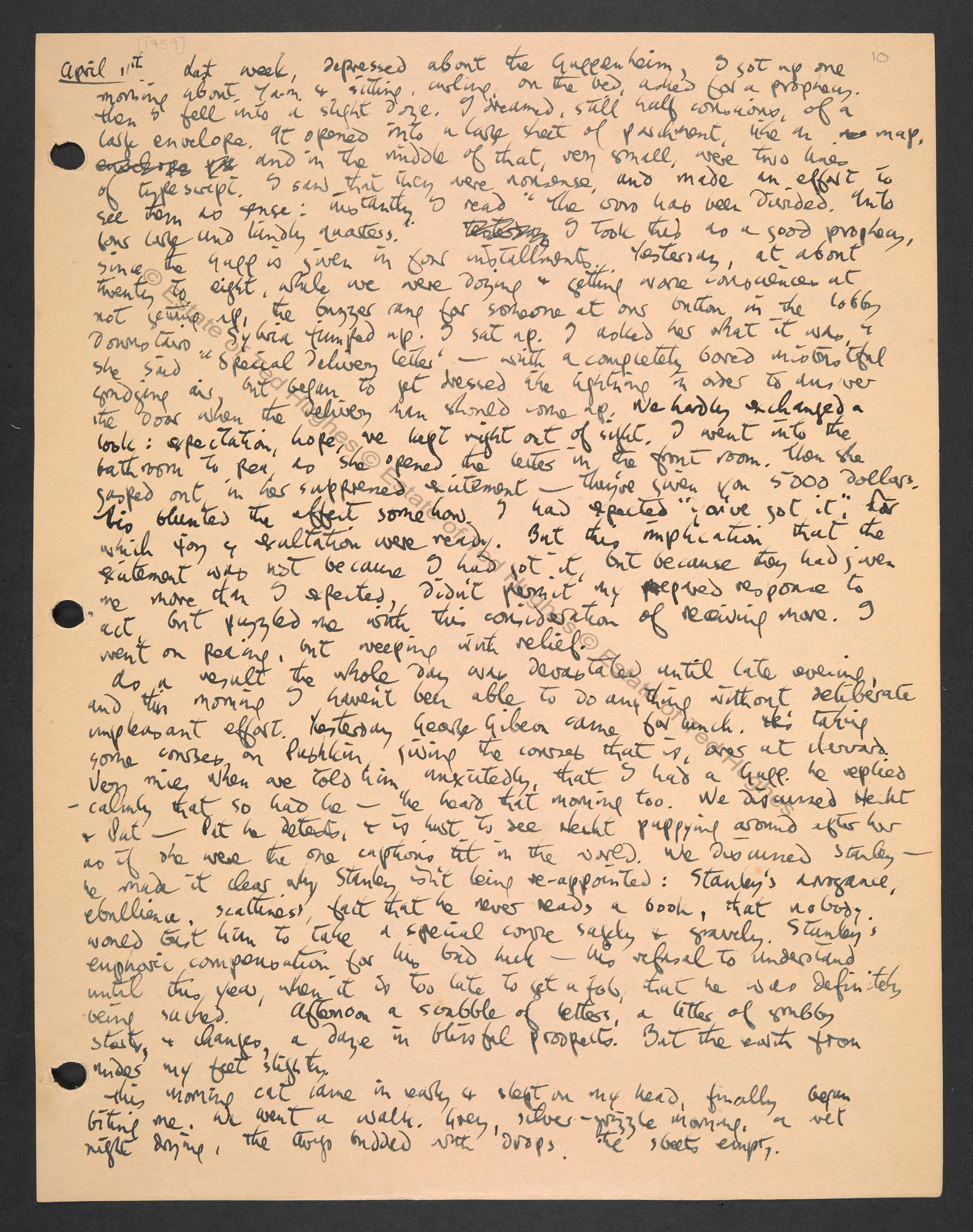 Notebooks of Ted Hughes, c. 1959–64