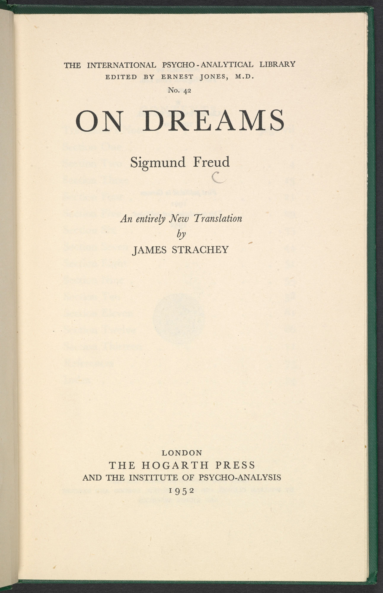 On Dreams by Freud
