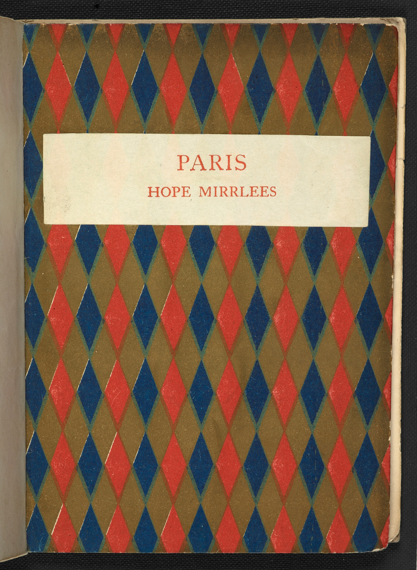 Paris by Hope Mirrlees