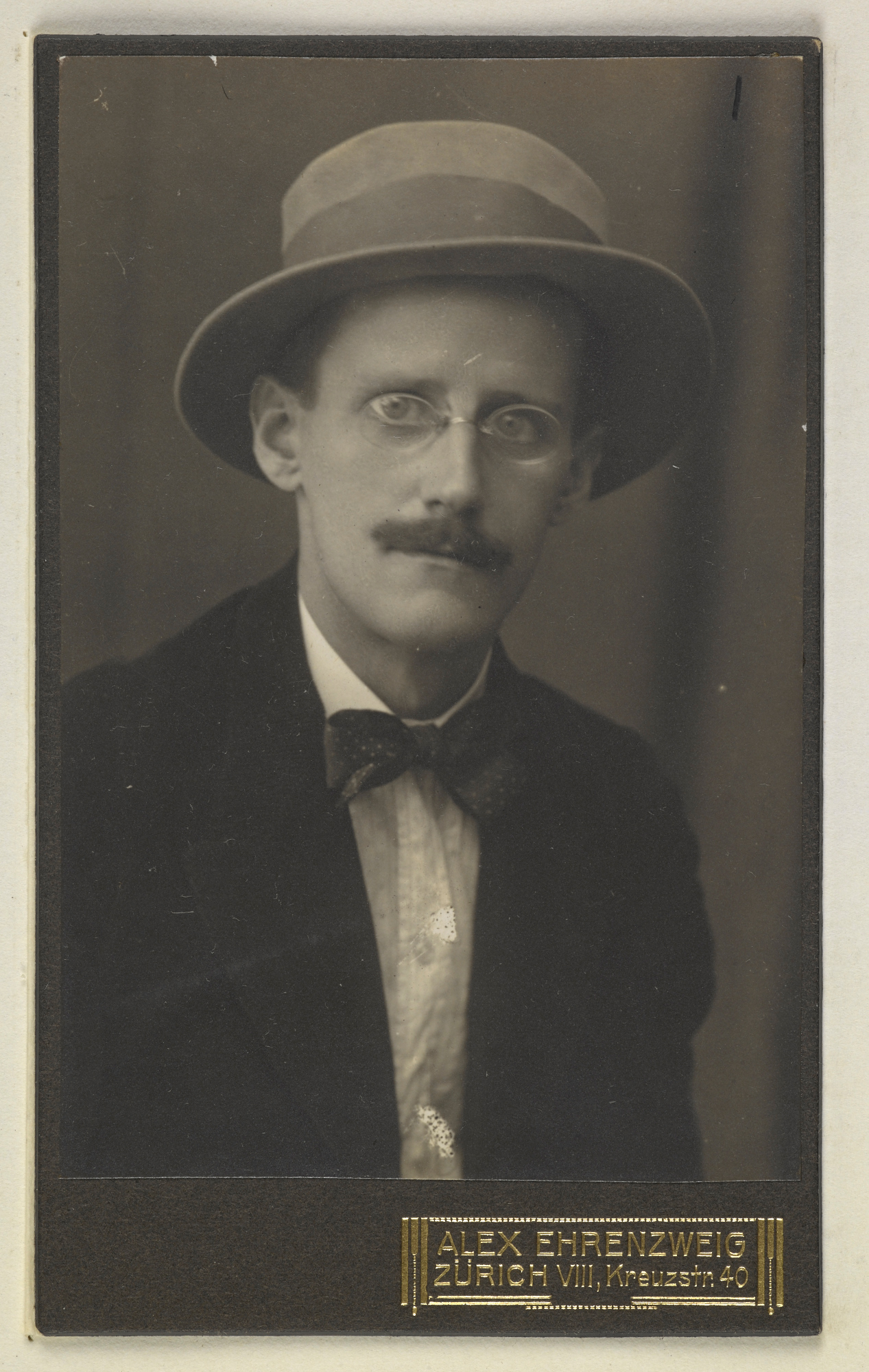 Photographs of James Joyce from the Harriet Shaw Weaver Papers