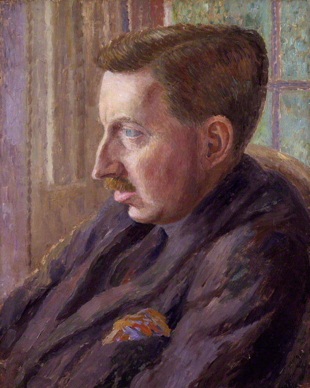 Portrait of E M Forster by Dora Carrington
