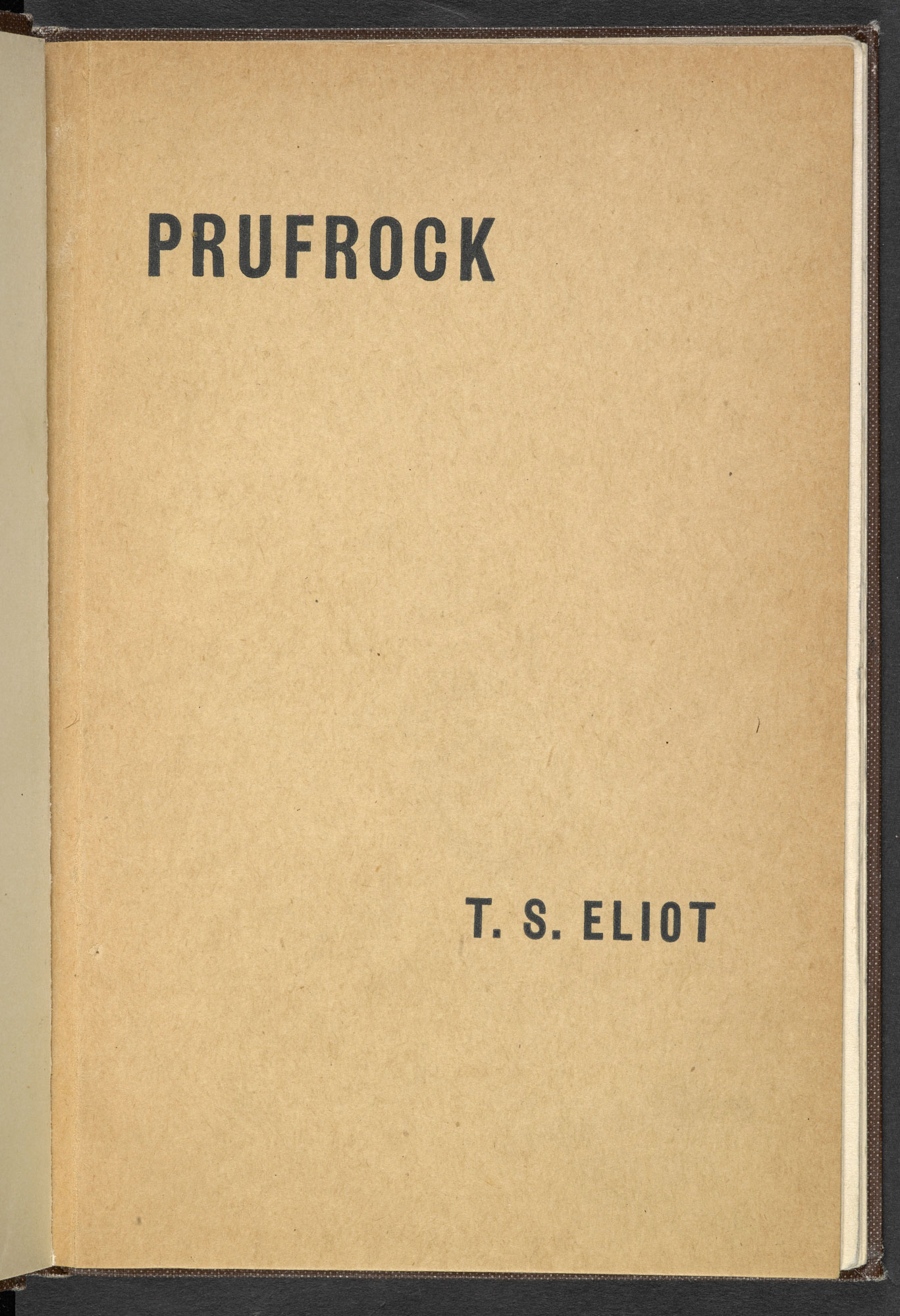 Prufrock, and other observations by T S Eliot