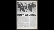 Page from Time Out magazine featuring article titled 'Dirty Washing' by Hanif Kureishi