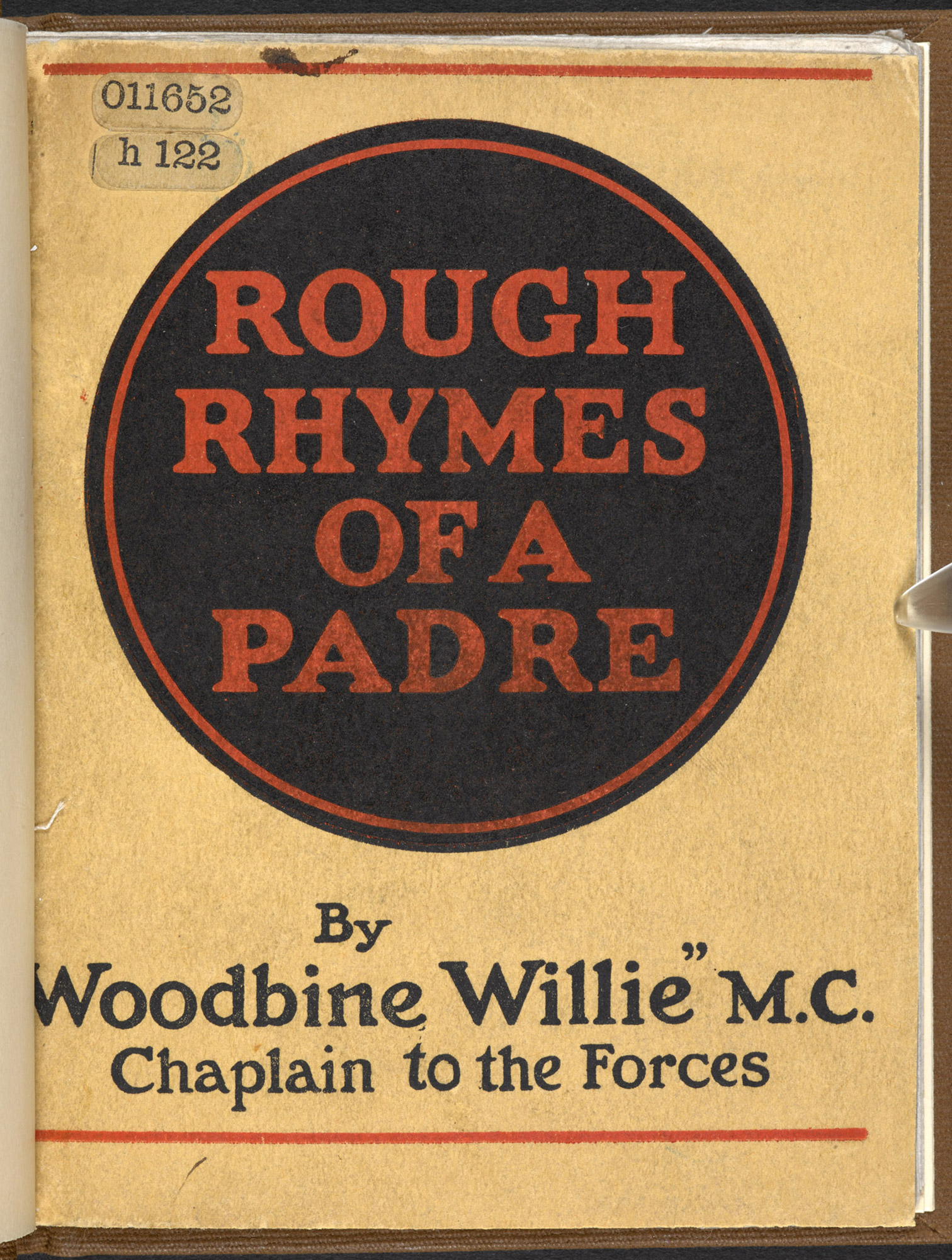 Rough Rhymes of a Padre, by 'Woodbine Willie'