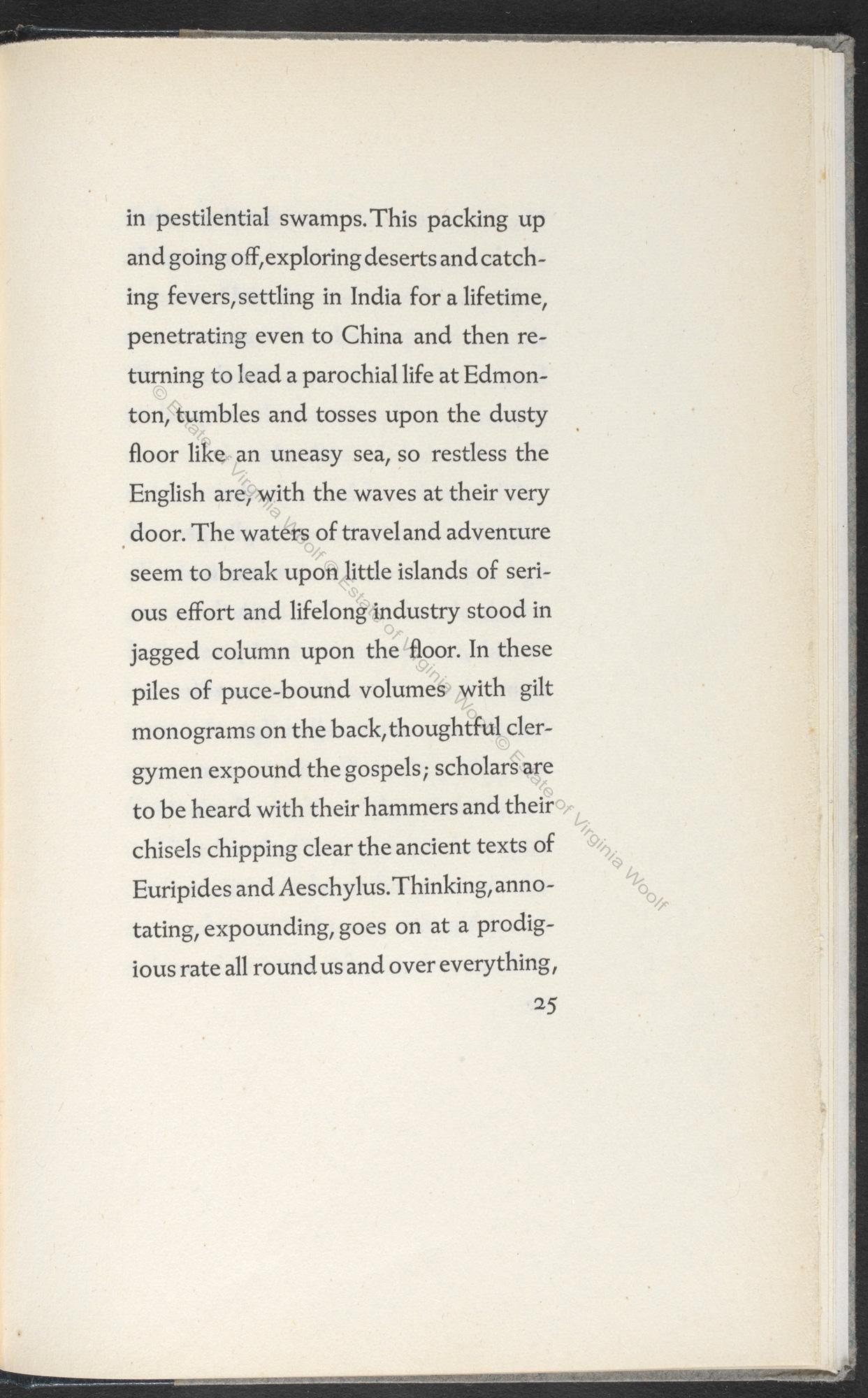 Street Haunting, an essay by Virginia Woolf