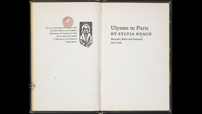 Sylvia Beach on meeting James Joyce and the publication of Ulysses