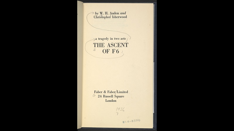The Ascent of F6 by WH Auden and Christopher Isherwood