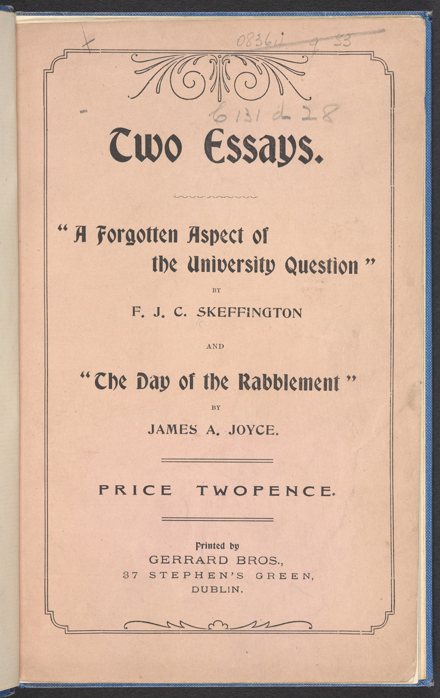 'The Day of the Rabblement', an essay by James Joyce