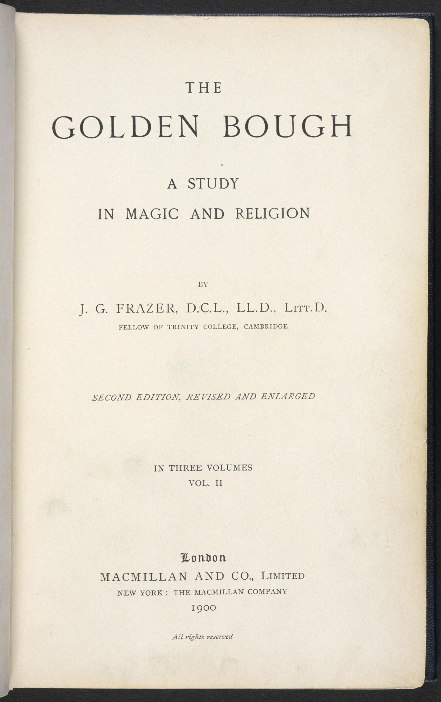 The Golden Bough, a source referenced in The Waste Land