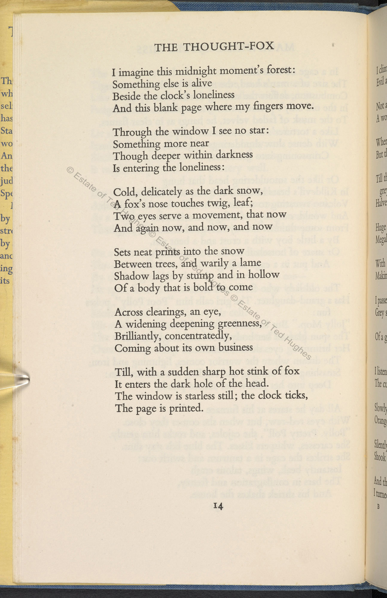 The Hawk In Rain By Ted Hughes Faber Edition